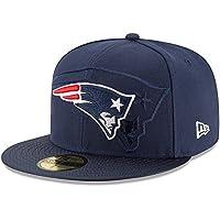 New Era Nfl Sideline 59Fifty Neepat Otc - Cappello Linea New England Patriots da Uomo, colore Blu, taglia 7 1/4