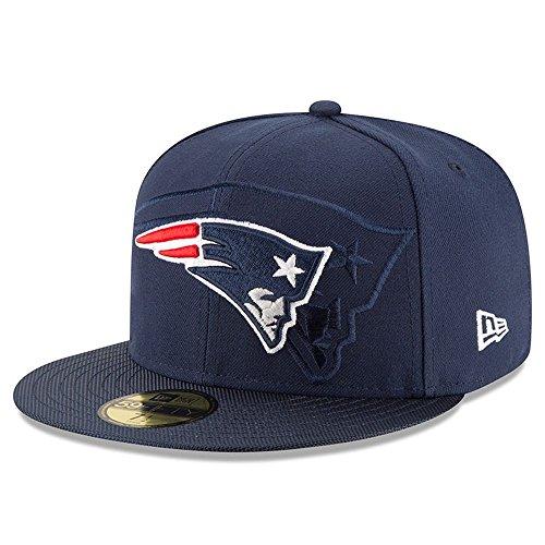 Hut Patriot Winter (New Era Nfl Sideline 59Fifty Neepat Otc - Schirmmütze Linie New England Patriots für Herren, Farbe Blau, Größe 7 1/4)