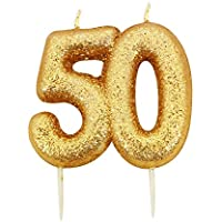 Creative Converting Gold Number Candle - 50