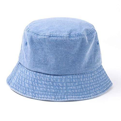 youjiu Sonnenschutz Visier Hut männlich Fischer Hut Männer Sonnenschutz Sommermode Harajuku @ Denim Blue_M - Gangster Männliche Kostüm