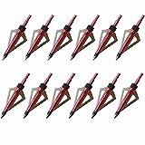 Huntingdoor Punte di freccia Punte Frecce Caccia Per Pracitca 100 Grano (Rossa)