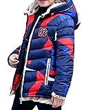 LOBTY Jungen Wintermantel Boys Mädchen Winterjacke Jacke Baby Warm Wintermantel Mantel Parka Outerwear Oberbekleidung Winter Kleidung Kinderjacke, Blau, Gr. 170cm