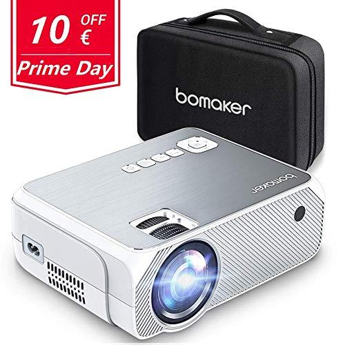 Proyector BOMAKER Resolución Nativa 1280*720p 3600 Lúmenes, Soporte Full HD 1080p, Mini...