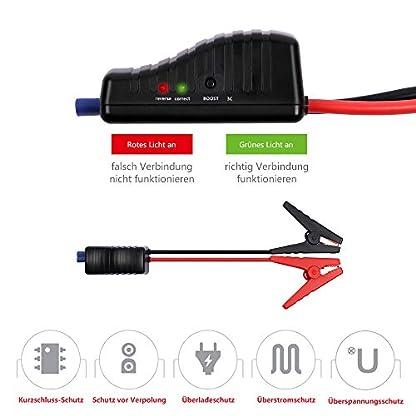 517Vbdh89aL. SS416  - Homelody Arrancador Coche 13600mAh ,500A Jump Starter para la coche 4.0L Gasolina y 2.0L Diesel,Cargador Batería &Power Bank con Puerto de USB y La Linterna LED para Teléfono Móvil y Tableta