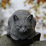 Dozing rôdant pour décoration de jardin Chat statue sculpture cadeau pierre funéraire pour animal domestique