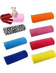 Amortiguador De La Mano Suave Almohada Titular Resto Arte De Uñas De Manicura Mano Almohada - Naranja