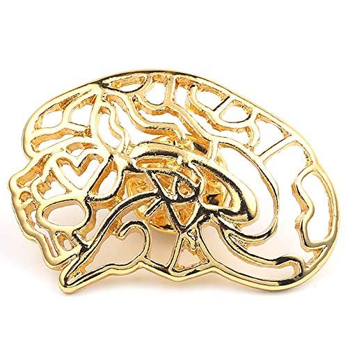 Broche con forma de cerebro