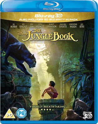 The Jungle Book [Blu-ray 3D] [2016]  [Region Free]
