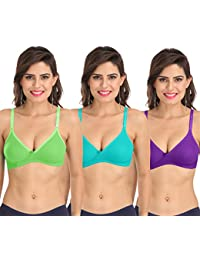 8e1cfc5db7 Sona Women s M1001 Everyday Non Padded 3 4th Coverage T-Shirt Bra with Free  Transparent Straps for Strapless Deep Backless…