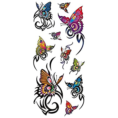 COKOHAPPY Temporaire Tatouage Papillon