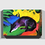 Big Box Art Canvas Print 30 x 20 Inch (76 x 50 cm) Franz Marc The Wolf - Canvas Wall Art Picture Ready to Hang - FREE DELIVERY