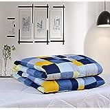 Hardev Enterprises 100% Cotton Check Print Double Quilt Comforter