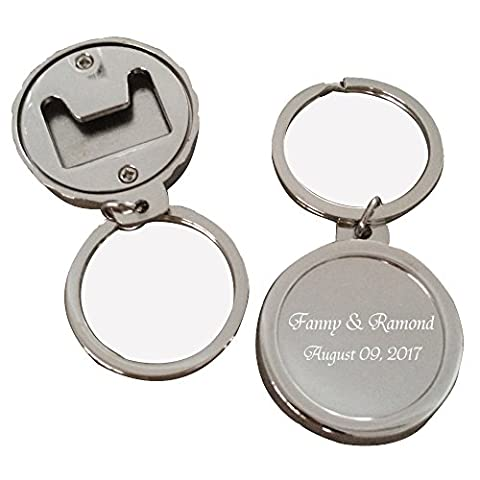 4Pcs Personalized Key Chain Bottle Beer Opener Free Engraving-Bottle cap