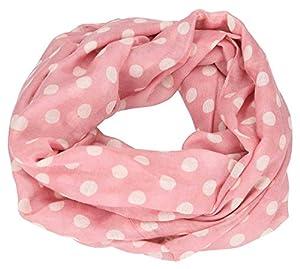 Depesche 8789Loop Bufanda TOPModel, Color Rosa con Lunares