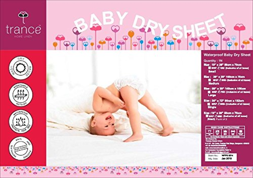 Trance Home Linen Baby Dry Sheets/100% Waterproof/Soft/Mattress/Crib/Bed Protector/Breathable/Underpad -Coral (Massive) Image 7