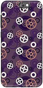 The Racoon Grip printed designer hard back mobile phone case cover for HTC One A9. (Gears Viol)