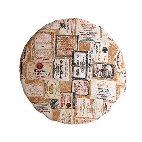 Burgund Akzente (beties Rustika Sitzkissen gefüllt 36x3 cm in großer Artikel-Auswahl für ein gemütlich warmen Einrichtungsstil (Stuhlkissen camel-burgund))
