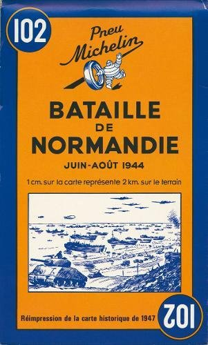 Carte Bataille de Normandie juin-aot 1944 par Collectif Michelin