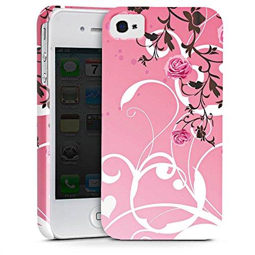 Apple iPhone X Silikon Hülle Case Schutzhülle Rosen Muster Pink Premium Case glänzend