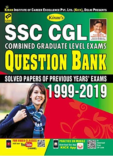 Kiran's SSC CGL Combined Graduate Level Exams Question Bank 1999-2019 ( Solved Papers of Previous Year Exams)-English(2625)