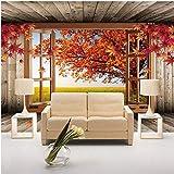 3D Wandbild Tapete Ahorn Baum Landschaft Fototapete Für Wohnzimmer Sofa TV Hintergrund Schlafzimmer Wände Wohnkultur XXL 400X796CM