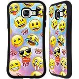 Officiel Emoji Heureux Smileys Étui Coque Hybride pour Samsung Galaxy A5 (2016)
