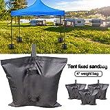 lembrd 4er-Pack Pavillon Sandsäcke Gewichte Tasche Bein Gewichte Zelte Sichere Sandsäcke für Das...