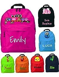 Preisvergleich für Kindergartenrucksack mit Namen & Wunsch-Motiv - pink