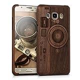 kwmobile Samsung Galaxy J5 (2016) DUOS Hülle - Handy Schutzhülle aus Holz - Cover Case Handyhülle für Samsung Galaxy J5 (2016) DUOS