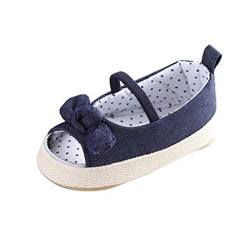 Sannysis Baby Schuhe Mädchen Soft Sole Krippe Kleinkind Neugeborene Sandalen (Blau, 12)
