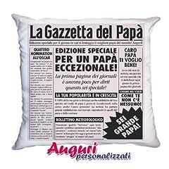 Idea Regalo - Bombo Cuscino papà gazzetta