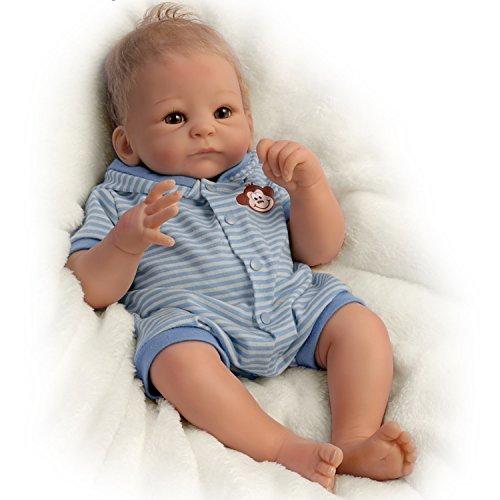 Benjamin Tan verdaderamente Real Realista y Realista muñeca recién Nacido Baby Boy 17-Inches ponderada por el Ashton-Drake galerías