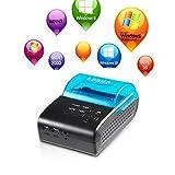 Impresora Bluetooth LESHP de 58mm, de alta velocidad, mini impresora portable inalámbrica, impresora térmica de recibos, impresora USB POS, compatible con sistemas IOS y Android.