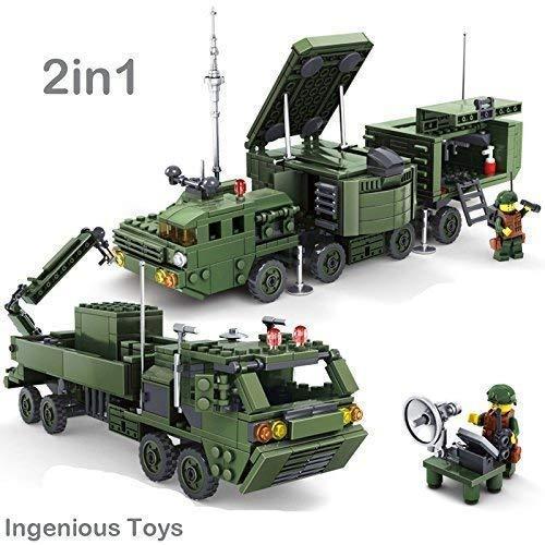 le Spielsachen Militär Kampf - The Spy Zentrum - 2in1 Truck/534pcs BAU Blöcke Baukasten #84038 ()