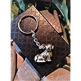 Handmade Silver Shih Tzu Lhasa Apso Dog Keyring/Handbag Charm. Can be personalised. Gift Boxed.