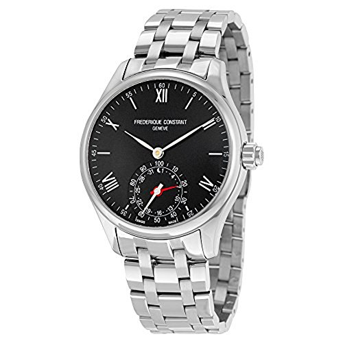Frederique Constant Horological Smart Watch Black Dial Stainless Steel Mens Watch Fc-285B5B6B