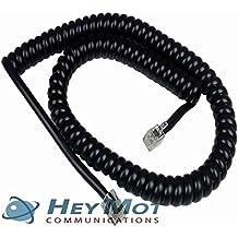 Panasonic KX-T7630Cable de auricular rizado en color negro vendido y enviado por HeyMot comunicaciones