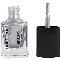 Makeover Premium Nail Enamel Hot Silk Siver 14 (9 Ml)