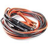 SELECTEC Câble de démarrage 600 AMP max, 2 x 6 mètres pinces Clips Crocodile Résistant Batterie professionnels Heavy Duty Câble D'aide au Démarrage pour voiture, Camion, Van Moto (noir+rouge)