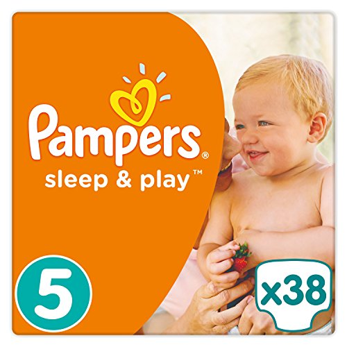 Pampers - Sleep & Play - Couches Taille 5 (11-23 kg) - Pack Géant (x38 couches)