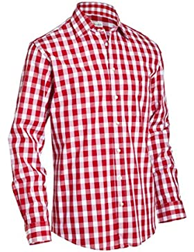 Almsach Herren Regular Fit Trachten Hemd LF140 rot