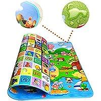Animali Tappetino Gioco con Tappetini Ripiegabile per Bambini Gioco Doppia Faccia Impermeabile GrandeAlfabeto per Casa e…