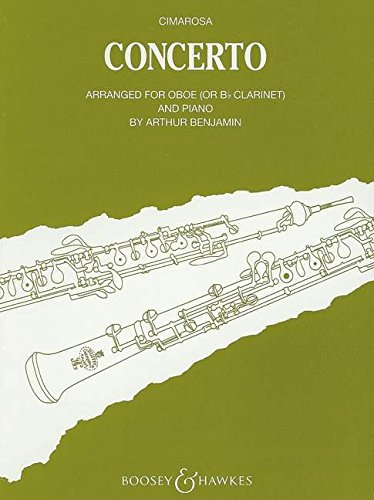 Konzert für Oboe und Streicher: arrangiert für Oboe (oder Klarinette in B) und Klavier. Oboe und Streicher. Klavierauszug mit Solostimme.