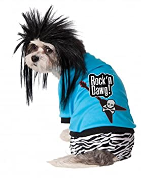 Costume rubis Company Rock Star Costume pour chien et perruque, grand