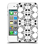 Head Case Designs Offizielle Vasare NAR Schwarz Und Weiß Kaleidoskopisch Ruckseite Hülle für iPhone 4 / iPhone 4S
