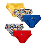 #4: Mothercare Boys Cotton Solid, Stripe And Printed Briefs Set Of 5