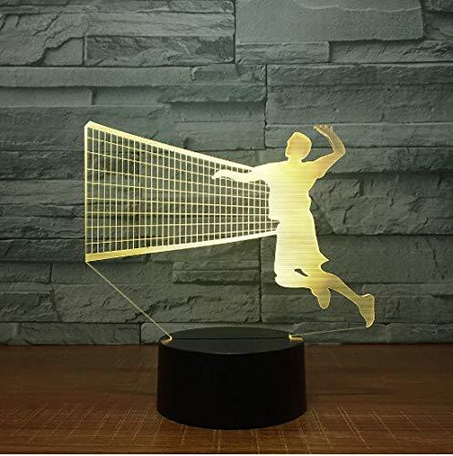 Led - Nachtlicht Herren-Volleyball Block 3D - Led - Lampe 7 Farbe Führen Nachtlampen Für Kinder Touch - Led Usb - Tabelle Lampara Lampe Baby - Schlafnacht -