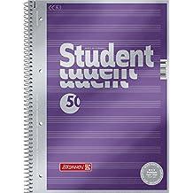 Brunnen 1067144 Notizblock / Collegeblock Student Premium Notenlineatur (Veredeltes DeckBlatt mit Metallic-Effekt, A4, 90 g/m², 50 Blatt)