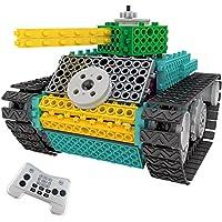 Think Gizmos Equipo de construcción para niños – Ingenious Machines a Control Remoto Kit de Construcción de Juguete (Tanque)