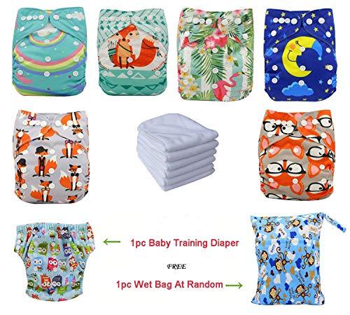 verstellbar Positionierung Druck Unisex Baby Cloth Pocket-Windeln mit weichem Wildleder Innen Einsatz -